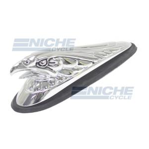 "Chrome ""Live To Ride"" Eagle Fender Emblem 07-83230"