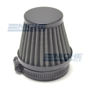 Clamp On Air filter - 52mm Black 12-55752B