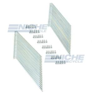 Kawasaki H1 500 KH500 White Zinc Spoke Kit - Rear Wheel 16-57145