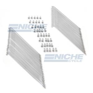 Honda CB450 CB500 CB550 CB750 Front Spoke Kit - Chrome 16-57201