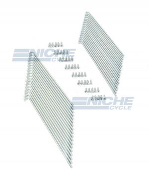 Yamaha R250 XS1 Spoke Kit White Zinc - Front Wheel 256-25104-00 16-57402