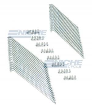 Yamaha TX500 XS1 XS650 White Zinc Plated Spoke Kit - Rear Wheel 256-25304-00-00 16-57403