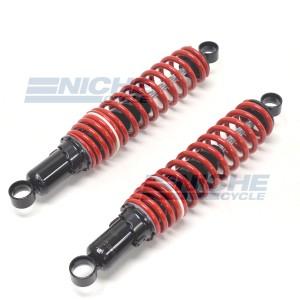 """Vintage Style Rear Shock Set Red/Black 13"""" 330mm 17-06715"""