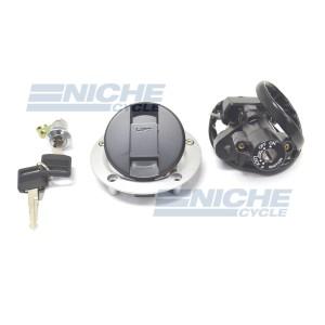 Suzuki GSX-R1000 SV650 SV1000 Locking Gas Cap & Ignition Set w/ Keys 37000-16840