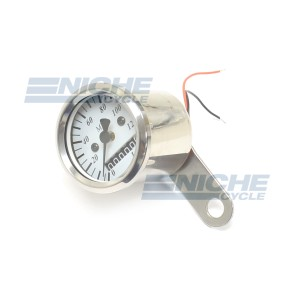 Micro Speedo 2.1 ODO White 0-140 48mm 58-43689