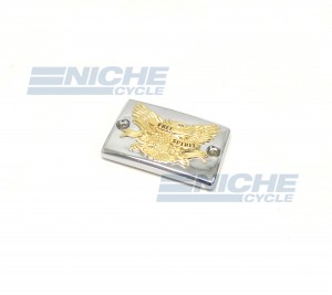 Yamaha XV535 Chrome & Gold Master Cylinder Reservoir Cap 58-94521