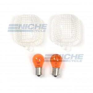Yamaha Turn Signal Lense w/Bulbs 59-19541