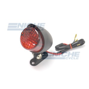 Custom Mini Retro Hooded Taillight - Satin Black 62-21662