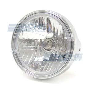 "7.5"" Side Mount Chrome Headlight - E-Mark 66-64298"