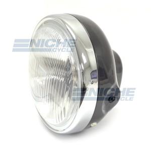 """Honda Reproduction 7"""" Headlight Black 66-64322B"""