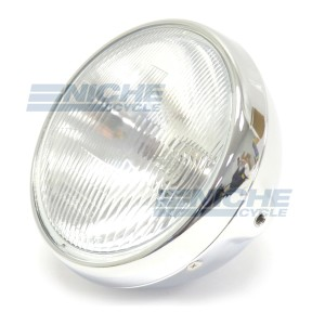"7"" Headlight w/Sealed Beam Chrome 66-64361D"