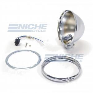 "5-3/4"" Bates Style Chrome Headlight Shell Kit 66-84150"
