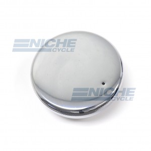 British Style Flat Top Chrome Gas Cap 82-3220/P
