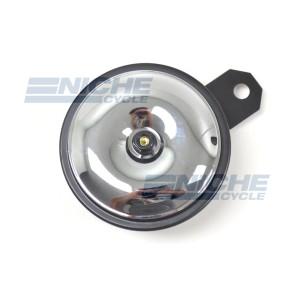 Horn- Black/Chrome 92mm 12 Volt 86-18042