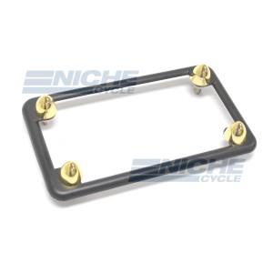 Matte Black License Plate Set w/ Gold Bullets 86-42620