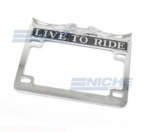 """Live to Ride"" License Plate Frame Chrome 86-42660"