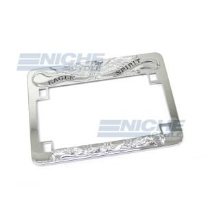 License Plate Frame- Eagle Spirit Chrome 86-42670