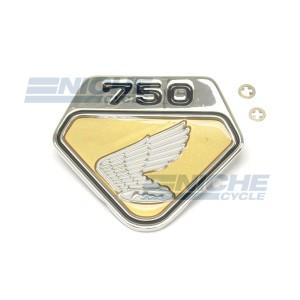 Gold Honda CB750 Right Side Cover Wing Emblem 87123-300-020G