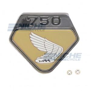 Honda Left Side Cover Emblem Gold 87124-300-020G