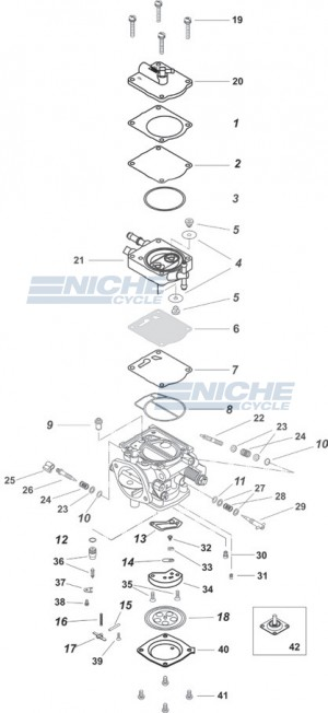 Mikuni BN46I Exploded View - Replacement Parts Listing BN46I_parts_list