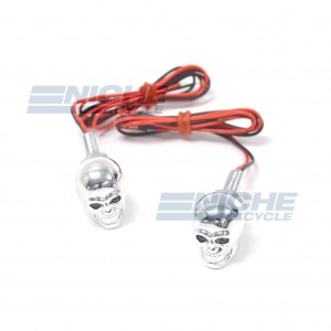 Glowing Skull Eye License Plate Bolts 85-83438