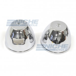 Kawasaki KZ Bottom Gauge Buckets - Chrome 58-85100