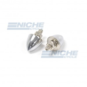 Chrome Spike Bullet License Plate Bolt and Nut Set 85-83400