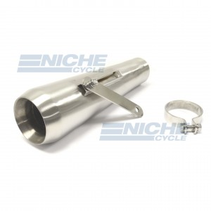 "Muffler 13"" Big Mouth Satin 2.5"" w/BRKT NCB-BM2500-13S"