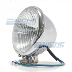 """4.5"""" Chopper Style Complete Headlight Assembly 66-84122"""