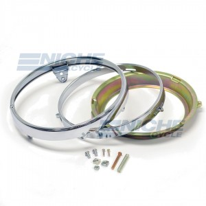 "7"" Honda Headlight Rim & Retainer Kit 66-64330"