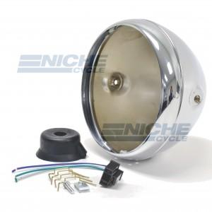 "Headlight Shell 7"" British-Style Chrome 66-65066"