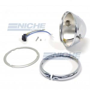 "5-3/4"" Bates Style Chrome Headlight Shell Kit 66-84100"