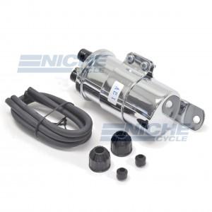 Dual Lead 12v Chrome Universal Coil - Harley Type 48-98618