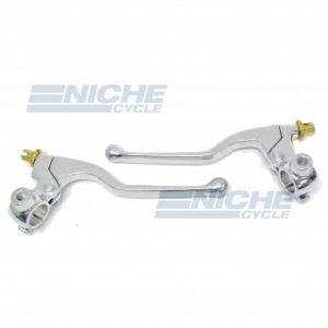 Honda Type Clutch & Brake Lever Set w/Mirror Mount 32-30100