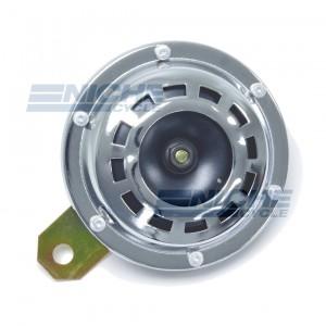 Horn- Chrome/Black 93mm 12 Volt 86-18072
