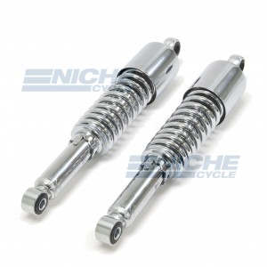 Kawasaki KZ900 KZ1000 Chrome Rear Shocks Plain 17-05691