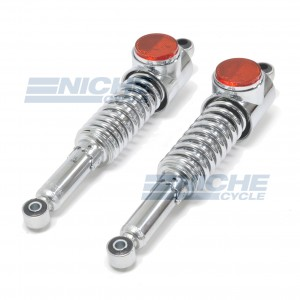 Kawasaki Z1/KZ Chrome Rear Shocks w/Lens 17-05690