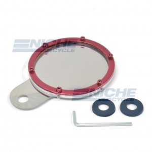 Stainless & Billet Round Tax Disc - Red 86-28814