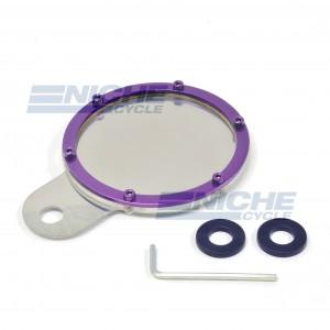 Stainless & Billet Round Tax Disc - Purple 86-28816