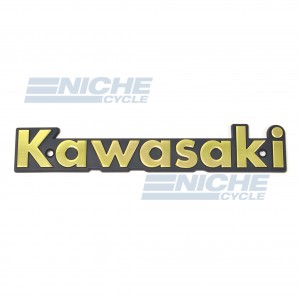 Classic Kawasaki Tank Badge Gold/Black 43-95912
