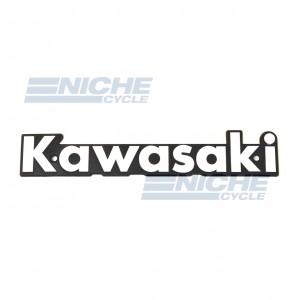 Classic Kawasaki Tank Badge White/Black 43-95910