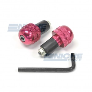 Bar Ends Alum -  Knurled Red 23-96464