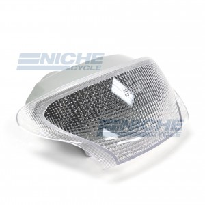 Taillight Triumph Clear w/Red LED 62-84791L