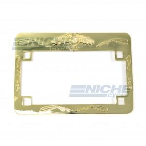 Motorcycle License Plate Frame Gold Eagle 86-42650