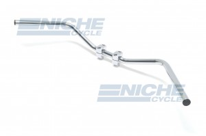 "Handlebar - 1"" Low Western Chrome-Dimp 07-12555"