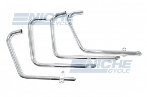 Honda CB500/4 CB550 4-4 Drag Pipes TT Chrome Exhaust System 001-0606