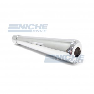 MUFFLER - RoadHawk 50's Oval Chrome 80-84031