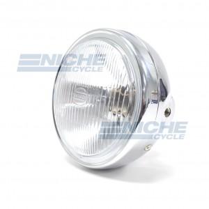 """Replica Honda Headlight 6-1/4"""" Chrome - No Bulb 66-64310"""
