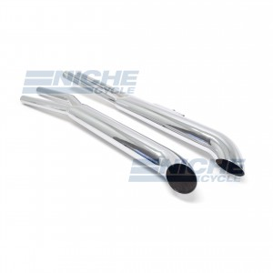 Honda CB650 Custom Slip On Motorcycle Mufflers Turnout Chrome  001-3210