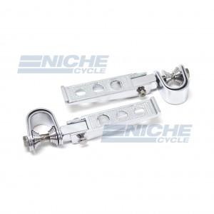 Universal Motorcycle Chrome  Folding Highway Bar Footpegs 50-26600